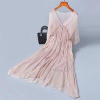 100% silk summer dress