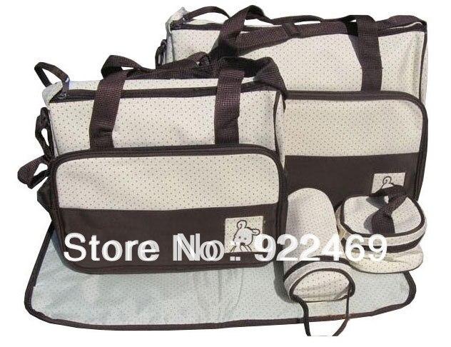 designer tote diaper bags 4lhm  7 Colors 5PCS/Set Designer Tote Baby Shoulder Diaper Bags Durable Nappy Bag  Mummy Mother