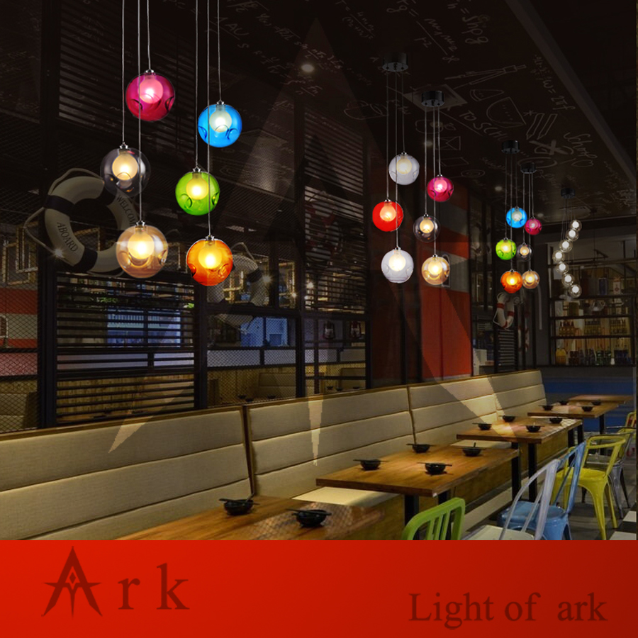 ARK LIGHT LOFT american old furniture nostalgic vintage 3 Bubble Ball LED  Pendant for Balcony aisle hallway DINING ROOM 990bf99c6bb