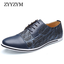 ZYYZYM Men Casual Shoes Large Size EUR 38-50 Lace-up Style Spring/Autumn Fashion Flat Leather Male Shoes cbjsho 2017 quality men shoes leather fashion british style men s loafers casual autumn lace up flat patchwork casual shoes male