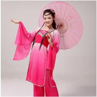 Chinese Classical Dance Costume Fairy culottes stage pink Gradient costume Hanfu elegant dance ancient poetry dance clothing