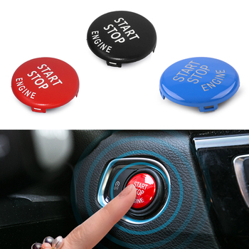 DWCX ABS Engine Ignition Start Stop Switch Push Button Ring Trim Cover Fit For BMW 3 5 Series E90 E91 E92 E93 E60 image
