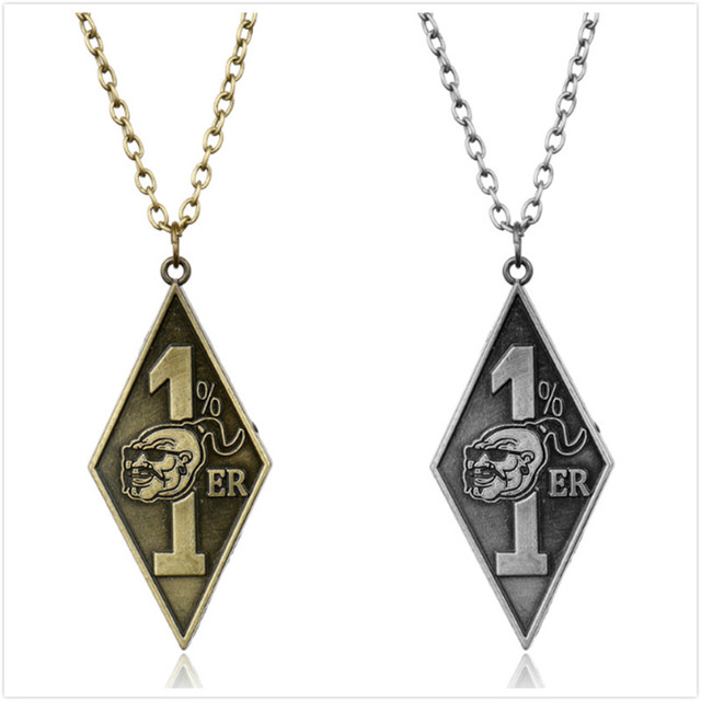 Wholesale necklaces bandidos motorcycle club necklace with 1er wholesale necklaces bandidos motorcycle club necklace with 1er pendants charms gothic jewelry aloadofball Images