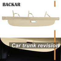 Backar 1set For Audi Q7 2016 2017 2018 Car Rear Trunk Cargo Cover Car styling Black Security Shield Shade Auto Accessories