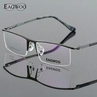 Aluminum Alloy Half Rim Optical Frame Prescription Men Rectangular Green Eyeglasses Business Glasses Sports Spectacle 823022