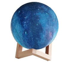 16 Colors Change Usb 3D Print Night Light Galaxy Moon Lamp New Arrival Touch Led Home Decor Creative Gift