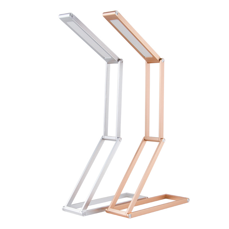 Flexible Geometric Shape Portable Foldable USB LED Desk Lamp Rechargeable Dimmable Aluminum Alloy Lamp Reading lamp IY161178 new in stock ve j62 iy vi j62 iy