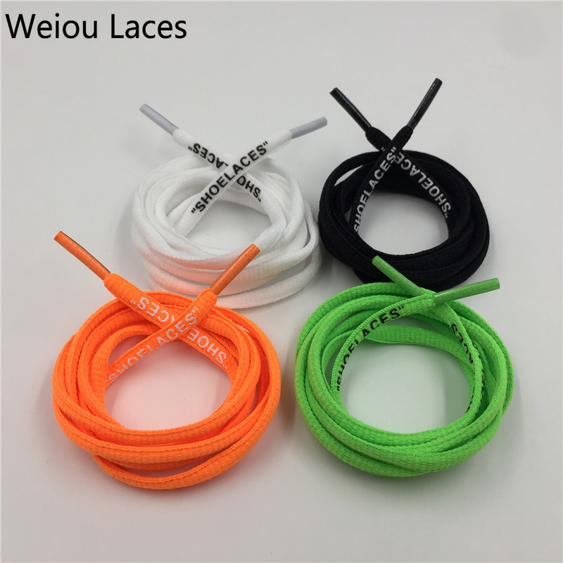 (30Pairs/Lot)Weiou Oval Flat Rope Laces With Printing SHOELACES Polyester cords Shoestring for Sneakers Sport Shoes Athletic