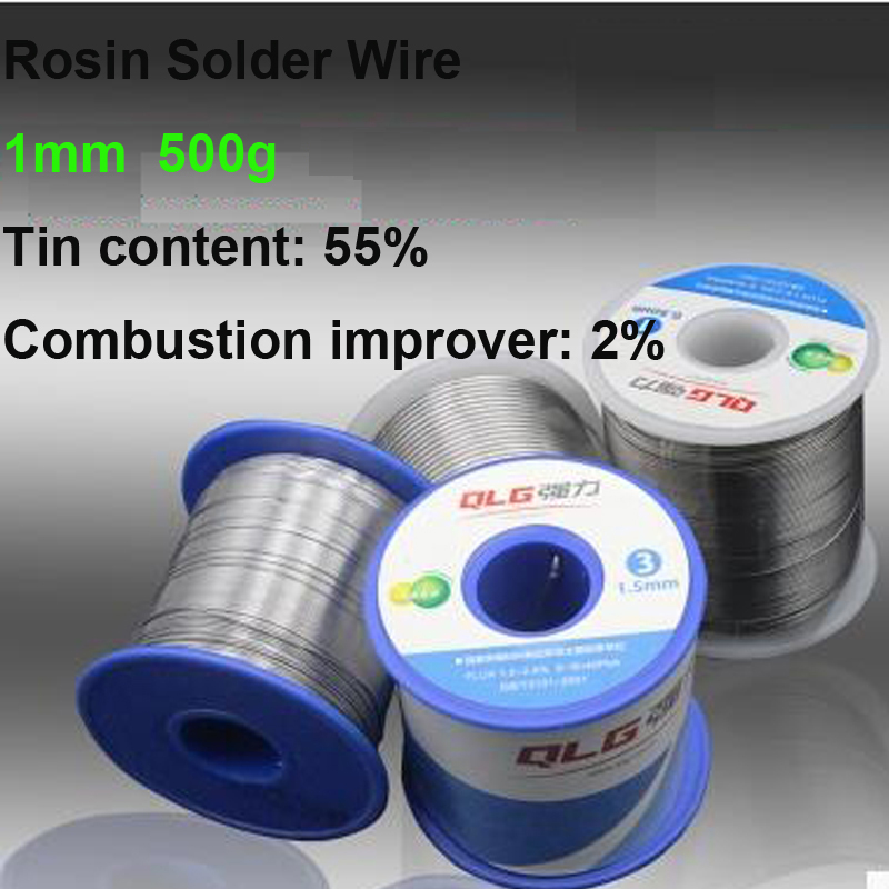 Quality Promise Tin/Lead Rosin Roll Tin 1.0mm Rosin Core Flux Solder Wire Reel 500g 55% High Purity Tin Content 1mm 500g rosin core solder 60 40 tin lead 2 0