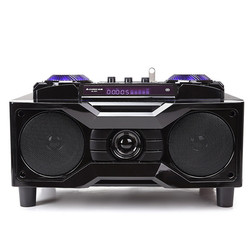 High-power computer multimedia speakers One machine body echo wall Bluetooth card AUX wooden home audio MP3 player Subwoofer