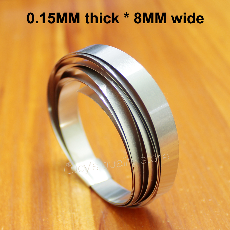 1M Nickel Plated Strip 18650 Battery Pack DIY Nickel Plated Steel Connection Nickel Plate 0.15MM Thick * 8MM Wide
