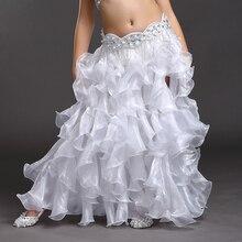 Performance Children Belly Dancing Clothes Wave Long Maxi Skirts Girls Chiffon Skirt Professional Belly Dance Skirt Kids