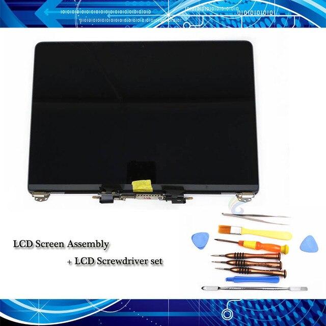 """Originele Nieuwe Full Beeldscherm + Schroevendraaier Set Voor Macbook Pro Retina 13 """"A1706/A1708 Lcd scherm Grey/Zilver Emc 3071"""