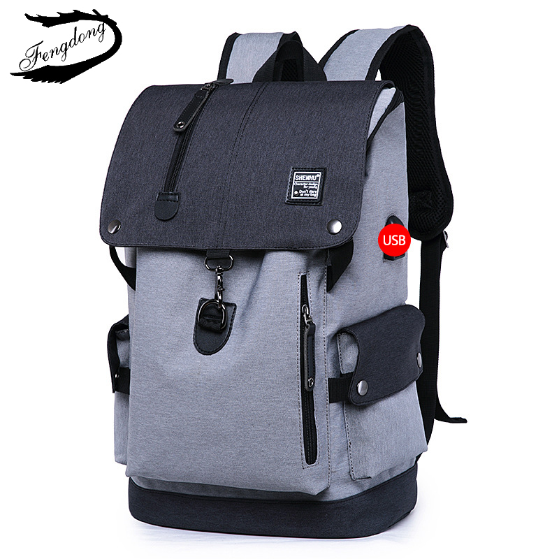 Image 2 - Fashion Men Backpack Shoulder Bag Male Fashion Best Travel Backpacks Everyday Bagpack Laptop Bags For Teenager Boy Mochila 2019-in Backpacks from Luggage & Bags