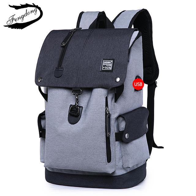 FengDong mężczyźni plecak 2018 torba na ramię męski moda najlepsze podróże plecaki everyday BagPack laptop torby dla nastolatek chłopiec Mochila