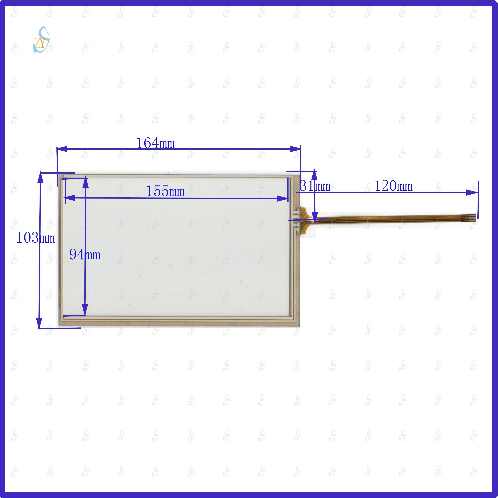 small resolution of zhiyusun 164mm 103mm 4791 7inch 4 wire resistive touch panel for carzhiyusun 164mm 103mm