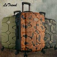 Rolling Чемодан Spinner пароль тележка камуфляж чемодан колесо Handside дорожная сумка Cabin Trunk