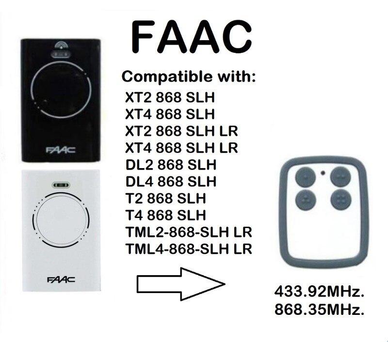 Angemessen Faac Xt2 Xt4 868 Slh Lr Ersatz Garage Tür Fernbedienung 868 Mhz Rolling Und Fixed-code Remote Duplizierer Sicherheit & Schutz