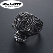 stainless steel wholesale jewelry gothic mens rings men  finger-ring male punk Retro skull Punk domineering stand demon