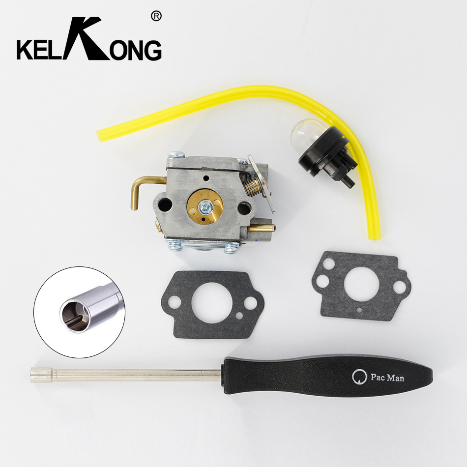 KELKONG OEM FOR Walbro WT827 CARBURETOR Ryobi & Ryan Trimmers Zama C1U-P10A C1U-P14A WT-454 With Pac Man Screw Tool цены