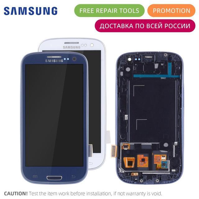 Pantalla LCD Para SAMSUNG Galaxy S3 i9300i i9300 i9301i Display Cristal Táctil digitalizador Con Marco Completa Original Blanco