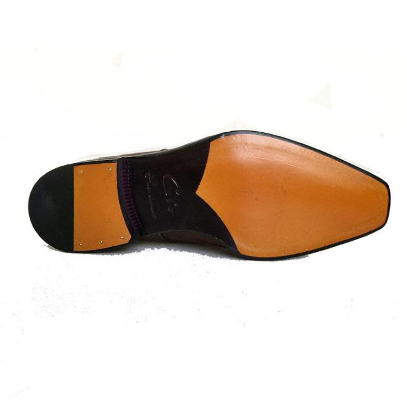 Cie/Мужские модельные туфли ручной работы из натуральной телячьей кожи с квадратным носком; классические красные, коричневые кожаные туфли дерби на плоской подошве; D-02-18