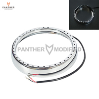7 Chrome Motorcycle Headlight Trim Ring with Light Case for Harley Davidson Touring Electra Street Glide