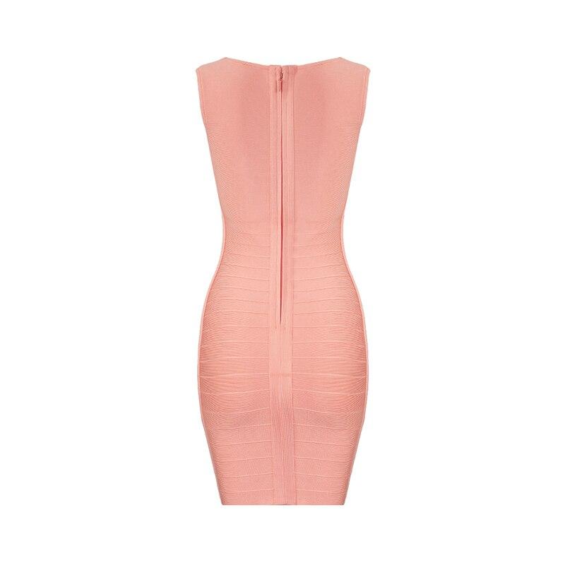 Corail Nouvelle Manches Mini Rouge V Party Gros 2018 Robe Sans Bandage Chic Col En Celebrity Mode Wear Rayonne Sexy XZPkiu