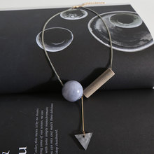Gray Geometric Necklace