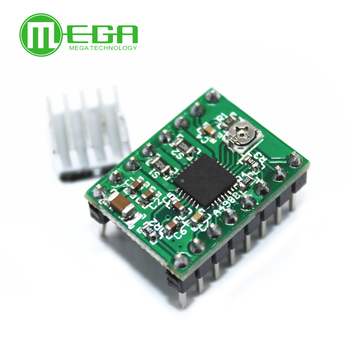 100pcs Stepper Driver A4988 stepper driver with Heatsink Red color Green color