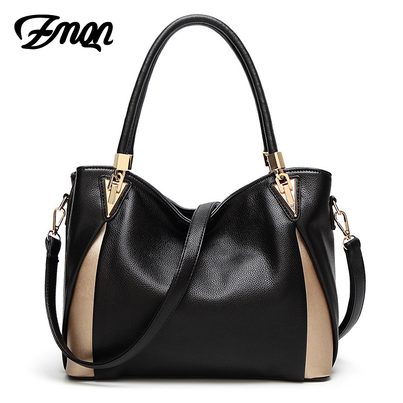 ZMQN Shoulder Bags 2017 Black Luxury Handbags Women Bags Designer Casual Tote PU Leather Famous Brand Kabelky Soild Bag Classic luxury famous brand women female ladies casual bags leather hello kitty handbags shoulder tote bag bolsas femininas couro