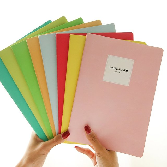 South Korea wholesale stationery B5 size diary book creative simple lovely notepad students 16 k note book