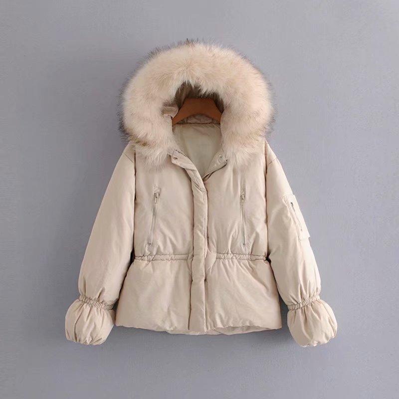 Chaud Taille Grand 1 Confortable Coton Dames 2 Épaississement Cordon Jacket Col De Mince Fourrure zqXqd