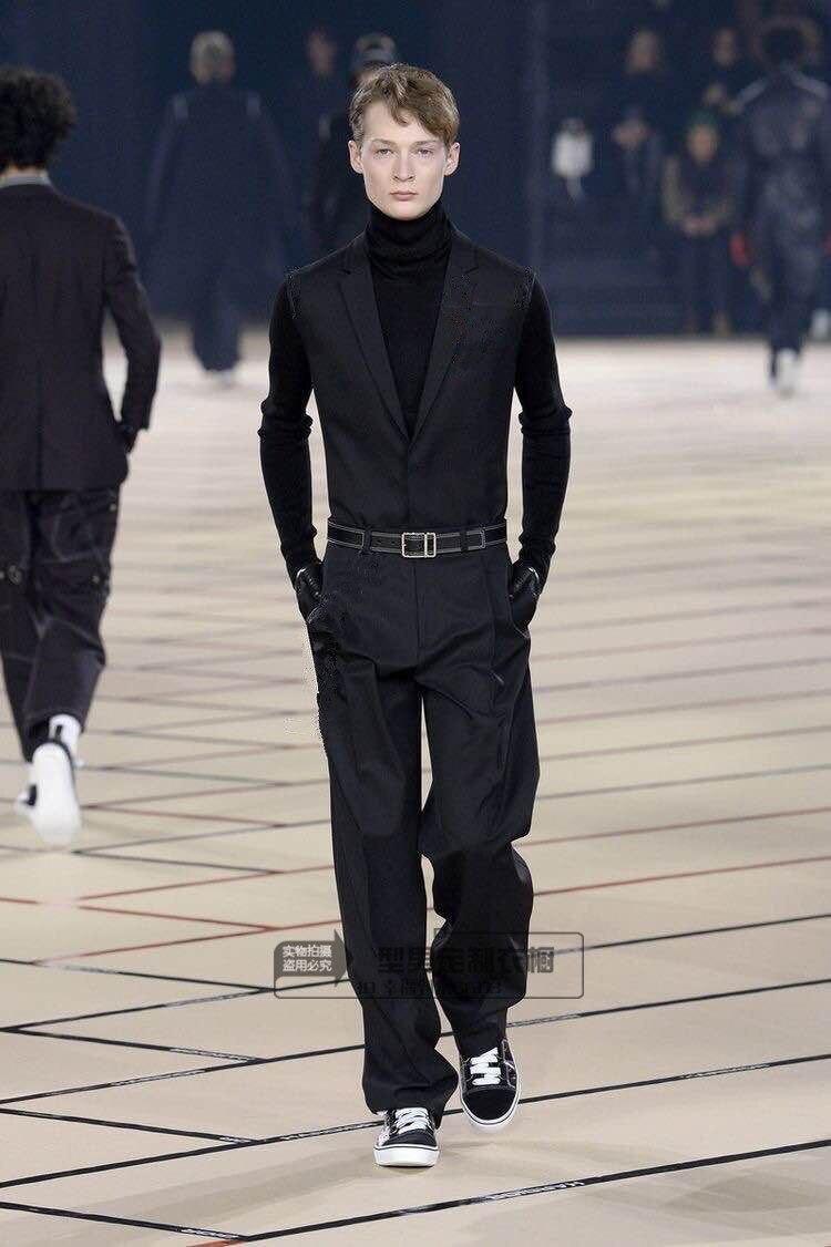 Nouveau style Européen et Américain mince corps salopette droite tube lâche-montage jeunes hommes pantalon de costume salopette. S-6XL!!