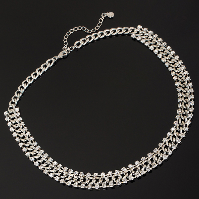 YFJEWE New Fashion Thick Chain Rhinestones Crystal Beads Choker Luxury  Chunky Necklace Statement Jewelry for Party Gift N121-in Chain Necklaces  from Jewelry ... af60773fae80