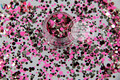 RFM321-199  Mix Colors Dot shapes round  Glitter for nail art ,nail gel, nail polish makeup and DIY decoration