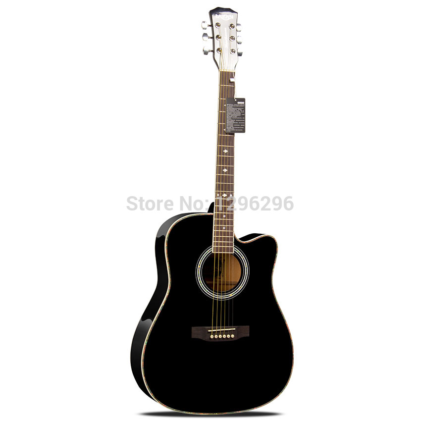 free shipping 41 inch black folk guitar man love light steel string guitar 102cm in guitar from. Black Bedroom Furniture Sets. Home Design Ideas