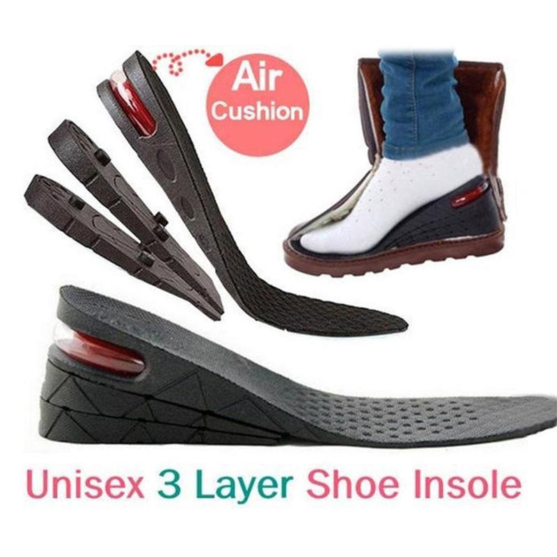 Height Increase Insole Cushion Height Lift Adjustable Cut Shoe Heel Insert Taller Women Men Foot Pads Unisex SHoes Accessories