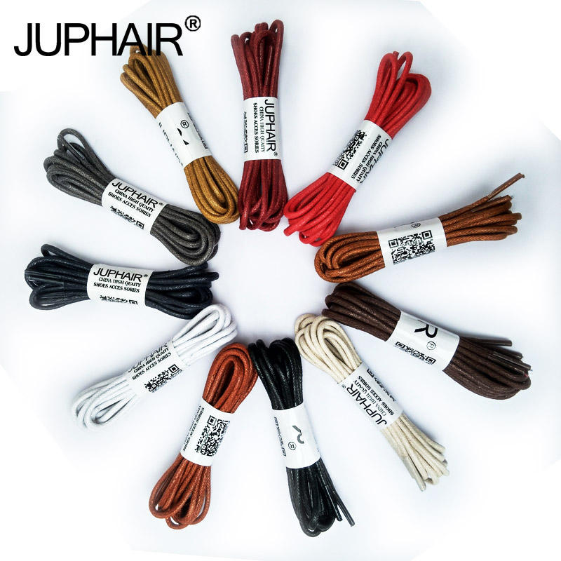 JUP1-12 Pair Brown Rounds Cotton Lace Sport Unisex Sneaker Martin Boots Strap String Leather Cord Shoelaces Waxed Shoes Strings