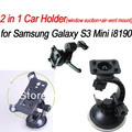 New Hot! Car Holder for Samsung galaxy s3 mini i8190, Combo 2 in 1 Air vent Mount + window suction Mount , free shipping