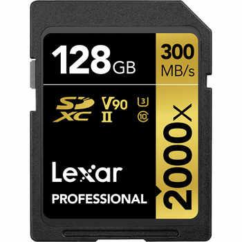 プロモーション!!! レキサー 128 ギガバイト 64 ギガバイト SDXC カード U3 32 ギガバイト SDHC カード 2000X UHS-II 300 メガバイト/秒高速フラッシュメモリ 3D ため 4 4k ビデオカメラ