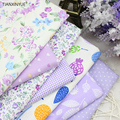 40cm*50cm Manual Cloth 7pcs Cotton Fabric For Sewing Quilting Patchwork home Textile purple series Tilda Doll Body Cloth