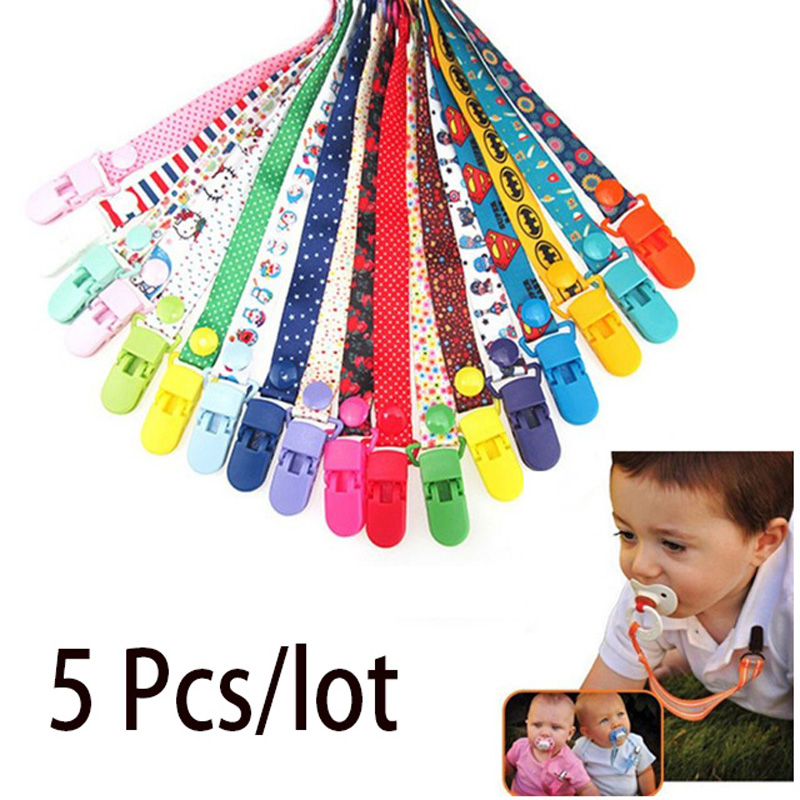 5 Pcs/lot Baby Pacifier Clips Pacifier Chain Dummy Clip Nipple Holder For Nipples Children Pacifier Clip Soother Holder