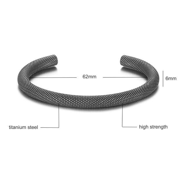 Bracelet Rétro titane acier Viking  2