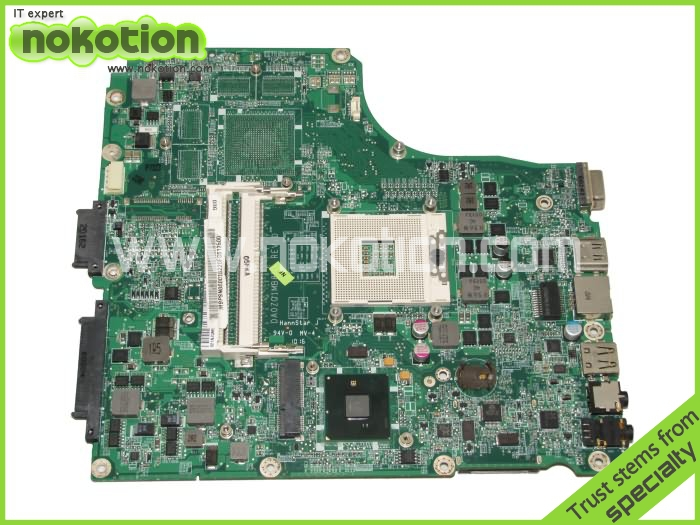 NOKOTION Laptop Motherboard for Acer aspire 4820 MBPSN06001 DA0ZQ1MB8D0 intel HM55 integrated DDR3 RAM laptop motherboard for acer aspire 4743 4743g hm55 geforce gt540m mb rfh01 002 mbrfh01002 je43 cp mb 48 4ni01 02m mainboard