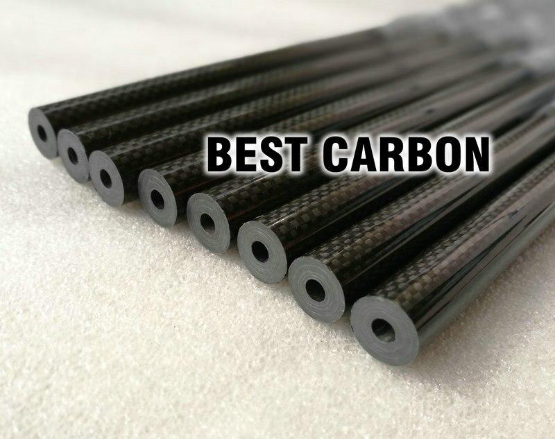 16mm x 5.5mm x 1000mm di Alta Qualità 3 k In Fibra di Carbonio Tessuto Tinta Unita Ferita/Winded/ tessuto di Carbonio Tubo Trave di Coda