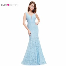 Lace Mermaid Prom Dresses Long 2018 Ever Pretty EP08838 Christmas Holiday Party Sexy V-Neck Elegant Prom Gala Dresses Gowns cheap Empire Tank Ever-Pretty Sleeveless Court Train Polyester Trumpet Mermaid Illusion Floor-Length Evening Prom Wedding Party Bridesmaid
