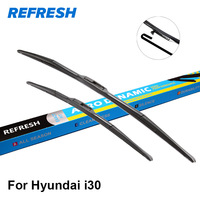 Car Wiper Blade For Mini Hyundai I30 24 18 Rubber Bracketless Windscreen Wiper Blades Wiper Blades