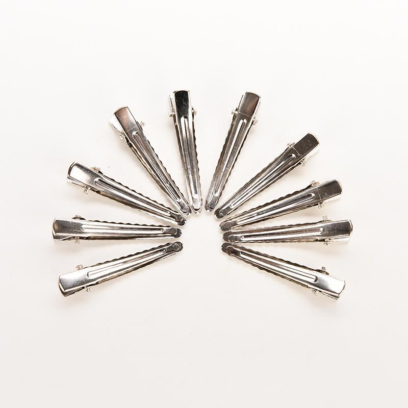 35 мм серебро плоский металлический Одноместный зубец Аллигатор Заколки для волос заколка для Луки DIY Интимные аксессуары шпильки 50 шт.