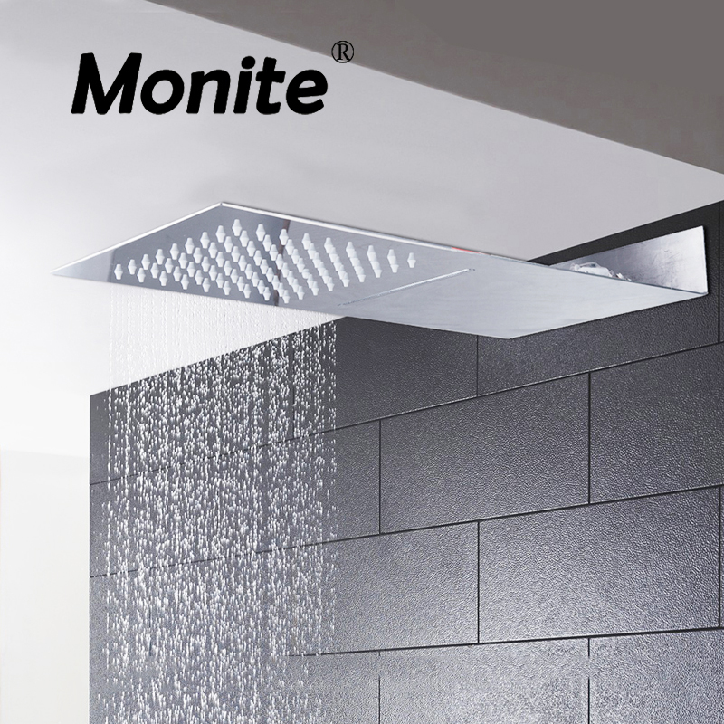 Square Stainless Steel Ultra-thin Shower Head Rainfall Shower Head Rain Shower Not Includes Shower Arm
